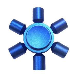 FSALU-101 Fidget Spinner  Six Leaves 3 Minutes Rotation Time ALUMINIUM BLUE - 46gr OEM