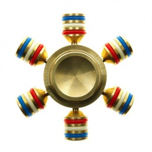 Brass Fidget Spinner Luminous Hybrid 608 Si3N4 - OEM 4 λεπτά μεταλλικό
