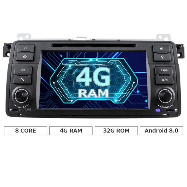 Octa Core Android 8.0 Car Dvd for BMW E46 M3 Rover 75 GPS navigation Wifi 4G Radio RDS Canbus bt RAM 4GB