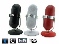 Retro Microphone Style Bluetooth Multimedia Speaker, MP3 Player, Hands Free Kit! - RTMC20