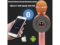 Ασύρματο Bluetooth Mικρόφωνο KARAOKE Hχείο Mp3 Player WSTER - Disco Light Microphone WS-668
