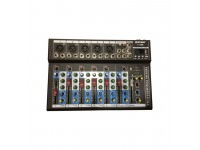 Oem 7 channel music audio mixer for sale recording mp3 LCD player 3 band EQ 2 mic/line input 1 stereo input, F7-MB