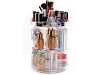 Makeup Organizer, 360 Degree Rotating Adjustable Cosmetic Storage