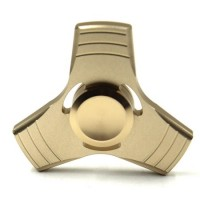 STEEL 53gr - Fidget Spinner  Three Leaves 3 Minutes Rotation Time, Small Steel Beads Bearing + (Gold) - OEM 3SG20
