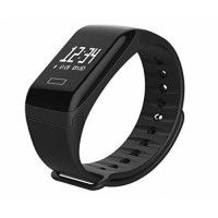 F1 Smart Bracelet Bluetooth 4.0 Μαύρο με Heart Rate Monitor IP67 Αδιάβροχο