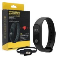 Health Wristband Fitness Tracker - Smart Watch Strap  (Black)