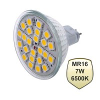 LED Spot MR16 24 smd 5050 7 Watt 220Volt 6500K