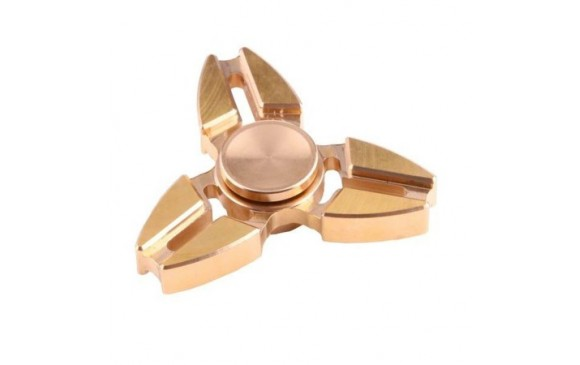 Fidget Spinner  Small Steel Beads Bearing + Copper Material, Crabs Three Leaves 2.5 Minutes Rotation Time (Gold) OEM -3LG30