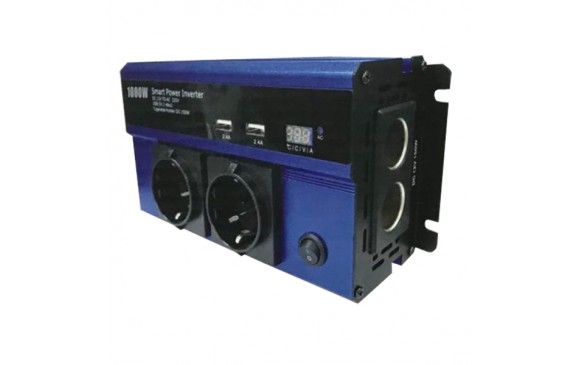 1000W - Power Inverter QY-7011 Τροποποιημένου Ημιτόνου 12V to AC 220V