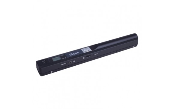iScan01 Mobile Document Portable HandHeld Scanner with LED Display, A4 Contact Image Sensor, Support 900DPI / 600DPI / 300DPI / PDF / JPG / TF (Black)