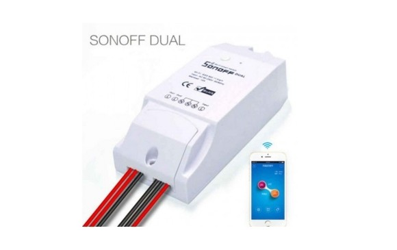 Sonoff Dual - WiFi Wireless Smart Home Switch Module ABS Shell Socket SF