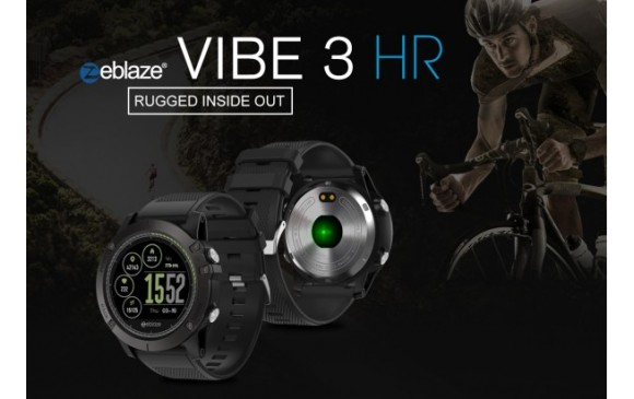 VIBE 3 HR Rugged Inside Out HR Monitor 3D UI All-day Activity Record 1.22′ IPS Smart Watch – Black