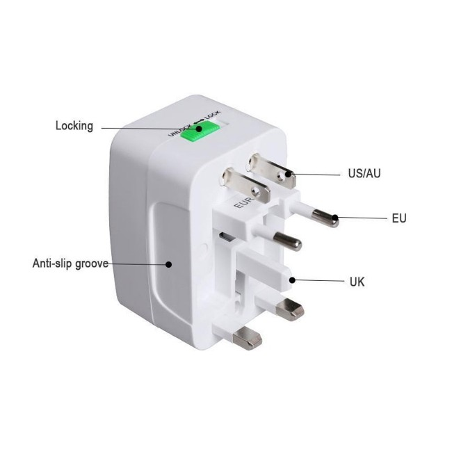 ALL-IN-ONE UNIVERSAL PLUG ADAPTER US UK AU EU WITH USB